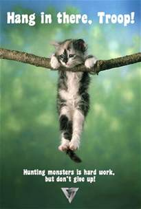 cat poster hang in there troop history the troop nick
