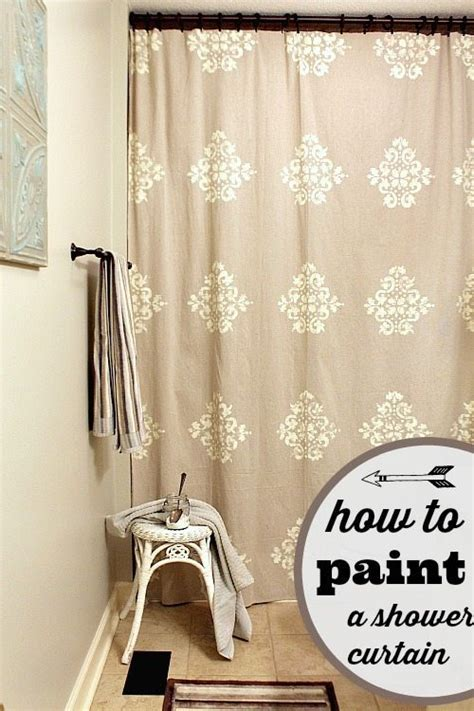 painting shower curtain diy shower curtains 25 awesome ideas refresh restyle