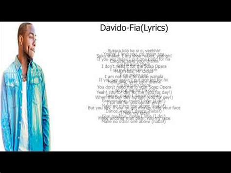davido fia lyrics youtube