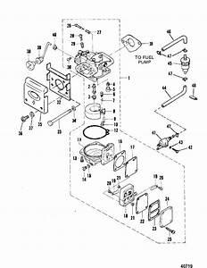 Mercury Marine 4    5 Hp  1 Cylinder Product Of Japan  Carburetor Parts