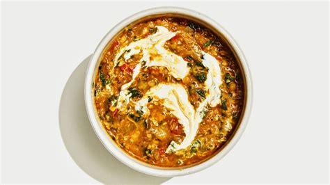 vegan coconut lentil soup recipe bon appetit