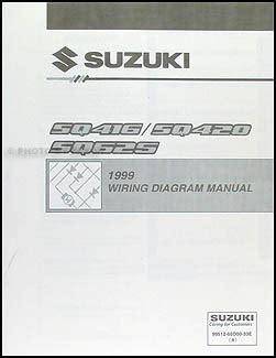 1999 2001 suzuki vitara grand vitara wiring diagram original