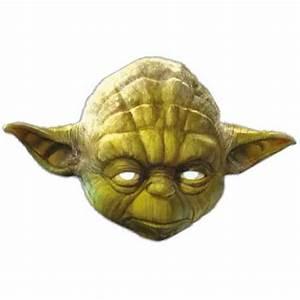 Star Wars Yoda Cardboard Face Mask Partyrama