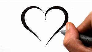 Simple Drawing Heart Picture How To Draw A Simple Tribal ...