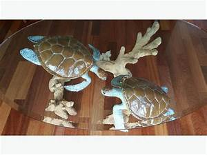 wyland turtle reef coffee table solid bronze central With sea turtle coffee table