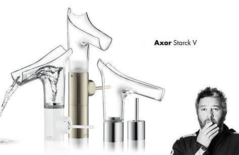 hansgrohe axor starck v axor starck v transparent glass faucets design is this