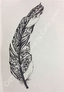 Feather drawing in black ink | Patterns, Design and Ink