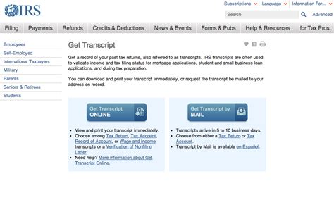 you can now your tax return transcripts from the