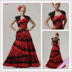 1235-1hs Fashion Traditional Floor-length A-LIne Cap-sleeve beautiful Spanish style prom dresses