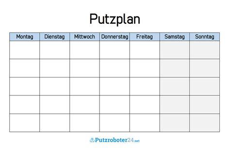 Putzen Plan by 11 Putzplan Wochenplan Shade And Eggs