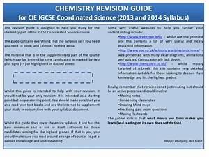 Chemistry Revision Pack  2012 14