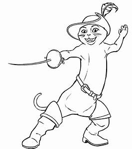 Animations A 2 Z Coloring Pages Of Puss In Boots