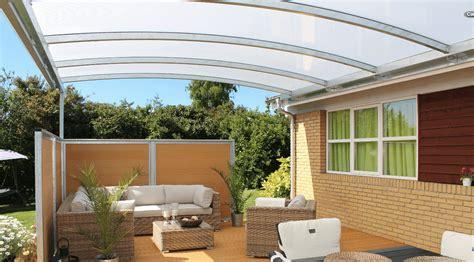 uberdachungen fur terrassen glas overdækket terrasse