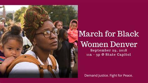 march  black women denver demanding justice