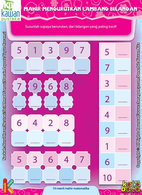 worksheet paud tk   mahir mengurutkan lambang bilangan