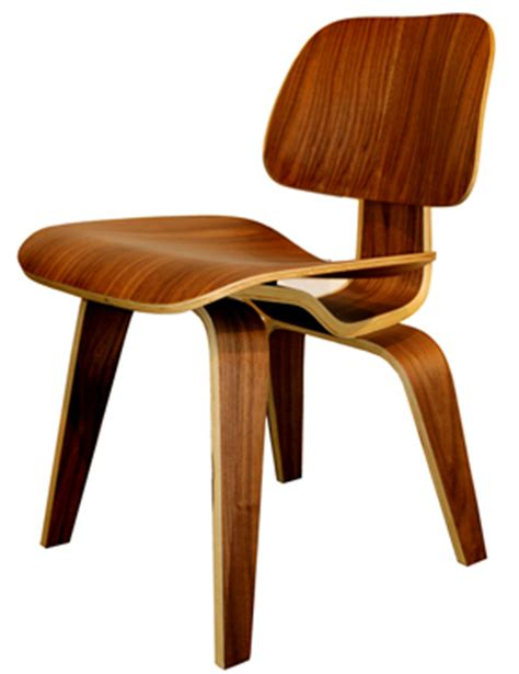 bent plywood dining chair walnut