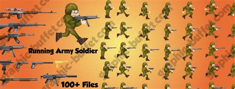 running army soldier game character  weapon pack