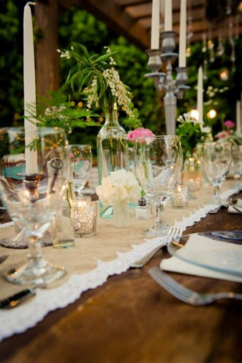 country vintage style wedding wedding table country