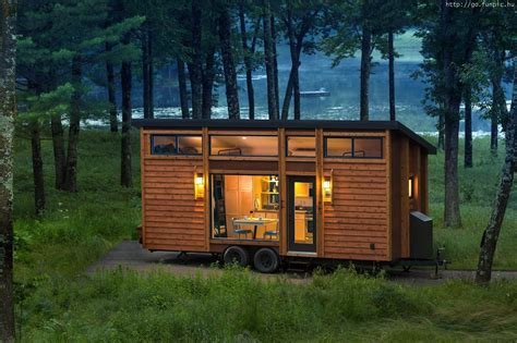 Tiny Homes On Wheels by Caravan Wooden House Forest Lakeside Cabins In 2019