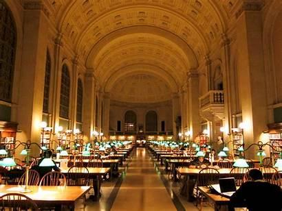 Library Boston Massachusetts Libraries Usa April National