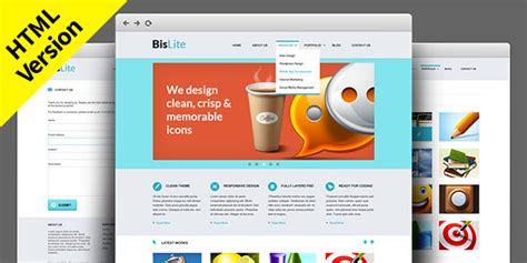 bislite free html website templates graphicsfuel