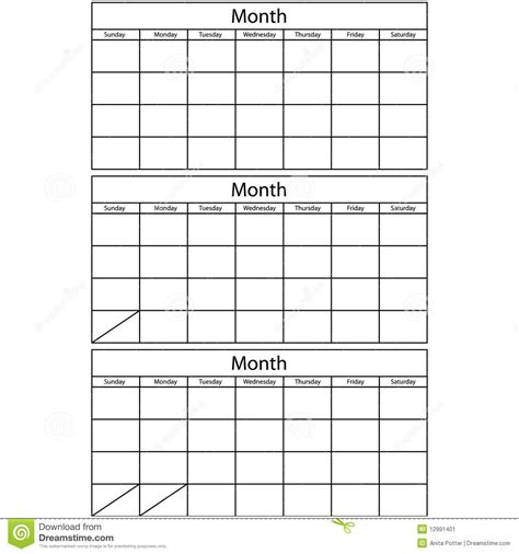 Blank One Month Calendar Template by Blank 3 Month Calendar Printable Calendar Template 2018