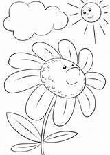 Cartoon Flower Dibujos Character Margarita Colorear Coloring Flores Flor Animados Imprimir Sol Colorare Printable Daisy Disegni Animati Dibujo Cartoni Disegno sketch template