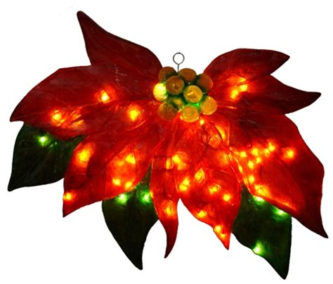 illuminated fiberglass poinsettia christmas light christmas