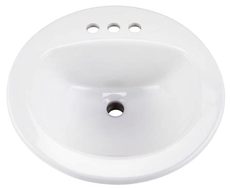 maxwell 174 round 4 quot centers self rimming bathroom sink