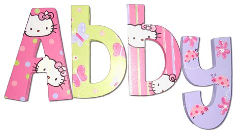 the kitty letter hello kitty painted wall letters