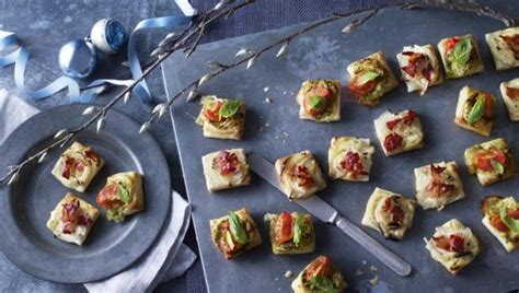 food recipes puff pastry pizza bites