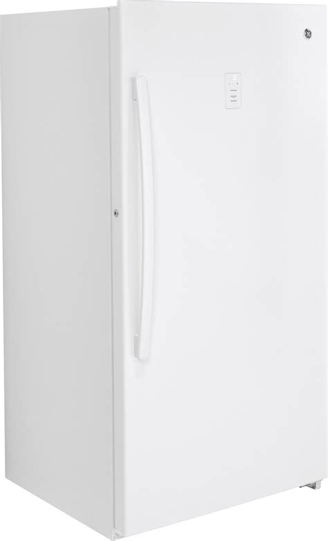 ge fufdlrww   cu ft upright freezer frost