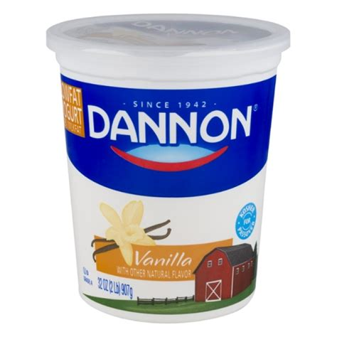 vanilla yogurt dannon lowfat yogurt vanilla 32 oz prestofresh grocery delivery