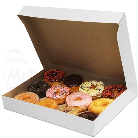 basket liners 15 x 11 1 2 x 2 quot white donut box with kraft