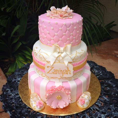 pink and gold baby shower cake pink and gold baby shower cake sorepointrecords