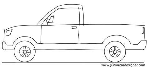 kid car drawing car drawing tutorial pick up truck side view junior car