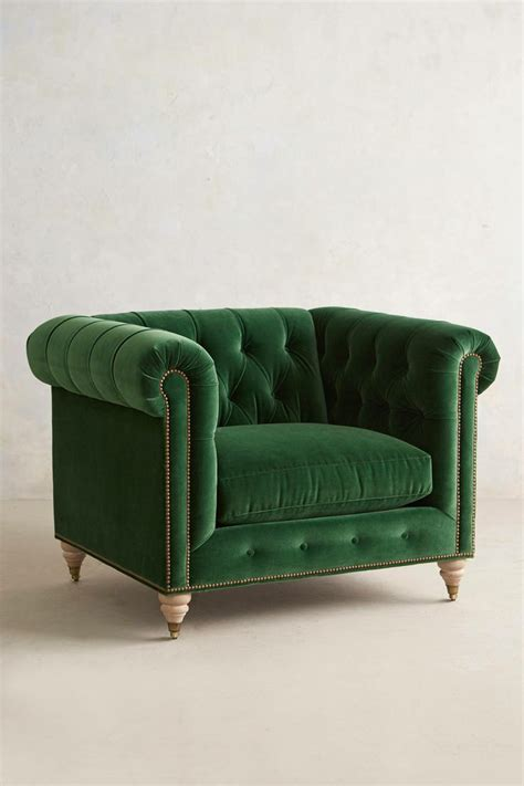 Green Armchair by Tabulous Design She Wore Green Velvet