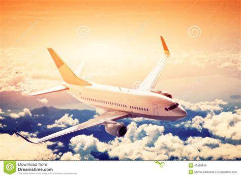 Bid On Travel Airplane In Flight A Big Passenger Or Cargo Aircraft