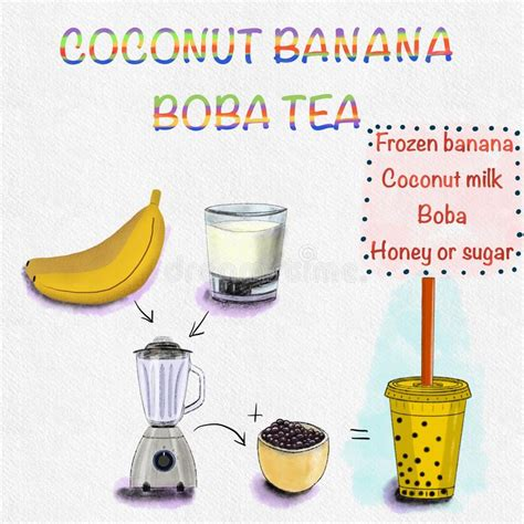♡ if you like this video, please share, like and subscr. Coconut Boba Bubble Tea stock photo. Image of juice ...