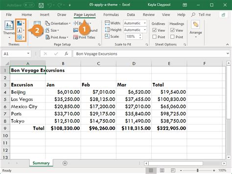How to Change a Theme in Excel | CustomGuide