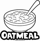 Oatmeal Oat Clipart Meal Coloring Template Porridge Oats Preschool Homemade Did Know sketch template