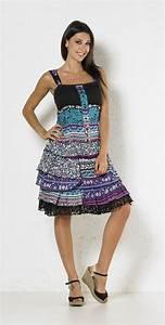 Robe Boheme Courte : robe boh me volants robes femmes coline ~ Melissatoandfro.com Idées de Décoration