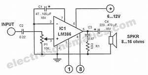 Electronic U0026 39 S Art  Rangkaian Amplifier Audio Mini Dengan Ic Lm386