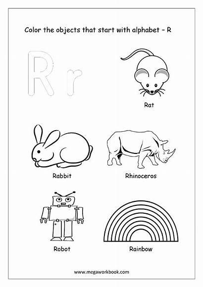 Coloring Start Objects Things Alphabet Beginning Words