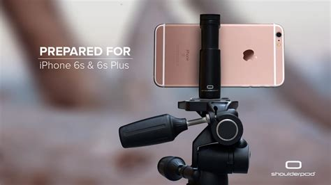 iphone filmmaking equipment shoulderpod iphone 6s 6s plus tripod mount
