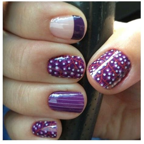 loving  fall designs  purple jamberry nails