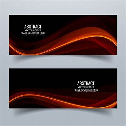 Banner Header Modern Colorful Wave Vector Banners