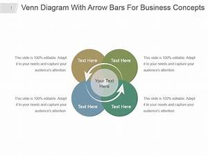 Venn Diagram With Arrow Bars For Business Concepts Ppt