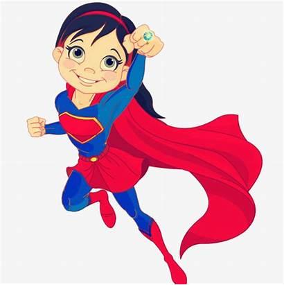 Superwoman Cartoon Clipart Superman Female Vector Cape