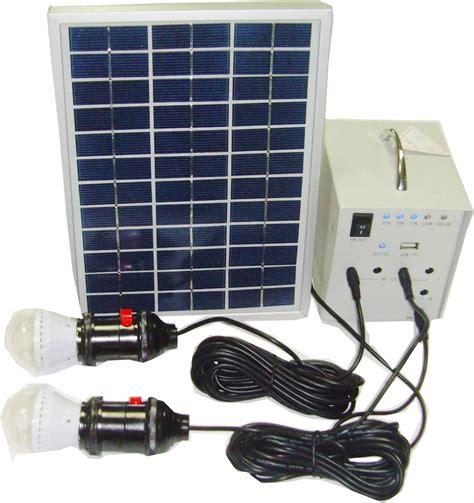 China Portable Solar System 5w, 2 Led Lights, 1*5v Usb, 4